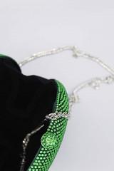 Drexcode - Clutch tonda verde con pietre - Anna Cecere - Vendita - 3