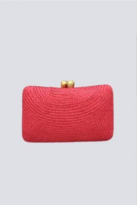 Clutch rossa in paglia - Serpui - Vendita Drexcode - 1