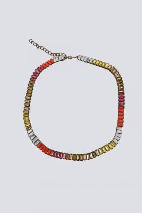 Girocollo in ottone con cristalli multicolori - Tataborello - Vendita Drexcode - 1