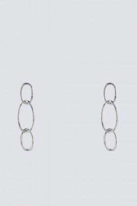 Orecchini argento con pendenti ovali - Federica Tosi - Vendita Drexcode - 1