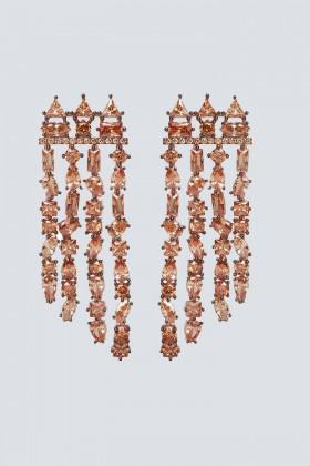 Orecchini chandelier champagne - Nickho Rey - Vendita Drexcode - 1