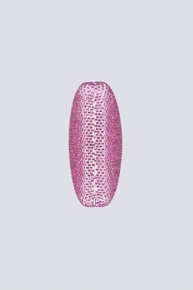 Clutch piatta rosa con strass - Anna Cecere - Vendita Drexcode - 2