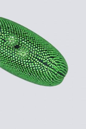 Clutch tonda verde con pietre - Anna Cecere - Vendita Drexcode - 2