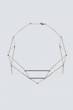 Collana rodiata a forma di origami - Noshi - Vendita Drexcode - 1