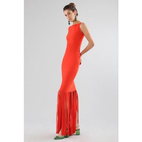 Vendita Abbigliamento Usato FIrmato - Abito rosso con frange - Chiara Boni - Drexcode -15