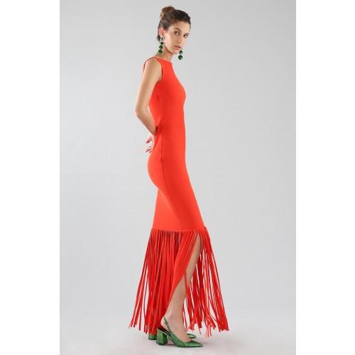 Vendita Abbigliamento Usato FIrmato - Abito rosso con frange - Chiara Boni - Drexcode -17