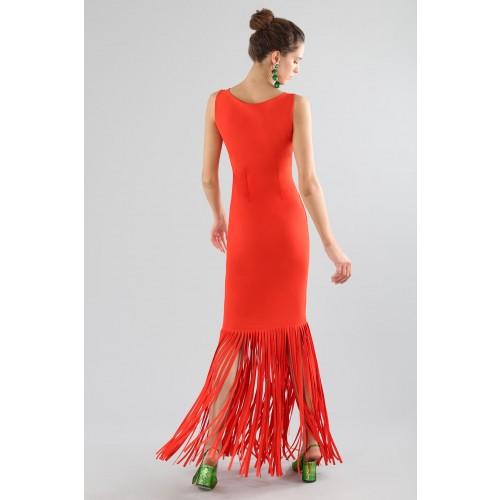 Vendita Abbigliamento Usato FIrmato - Abito rosso con frange - Chiara Boni - Drexcode -14