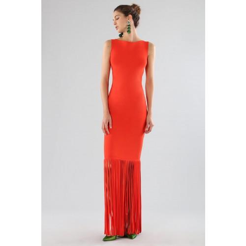 Vendita Abbigliamento Usato FIrmato - Abito rosso con frange - Chiara Boni - Drexcode -13