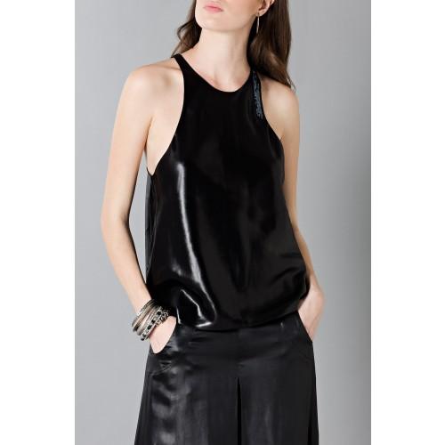 Vendita Abbigliamento Usato FIrmato - Pantalone in pelle - Blumarine - Drexcode -2
