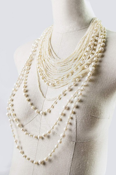 Collana in perle multifili