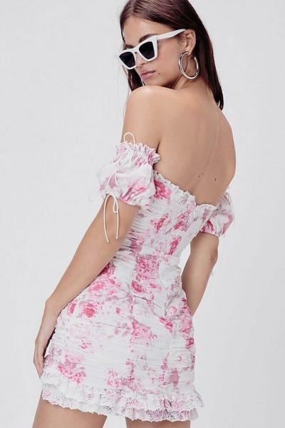 Mills Ruched Mini Dress